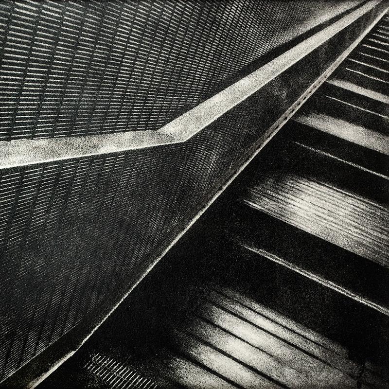 Metal Steps - bromolio Roma - camera oscura - fotografia analogica