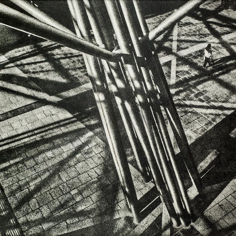 Stazione Centrale di Napoli - bromolio - camera oscura - fotografia analogica